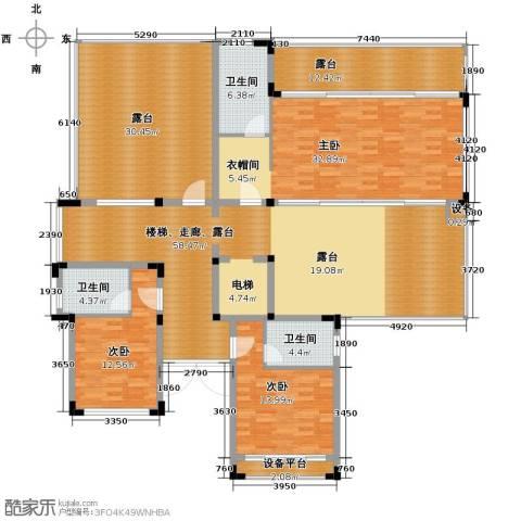 氧立方森林公馆3室0厅3卫0厨450.00㎡户型图