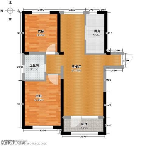 首创光和城2室2厅1卫0厨88.00㎡户型图