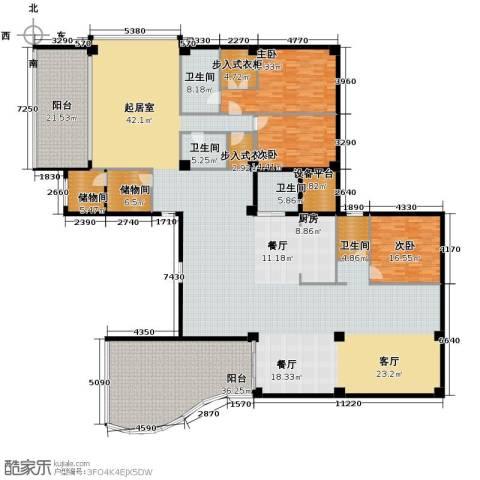 汇锦华庭3室1厅4卫0厨462.00㎡户型图
