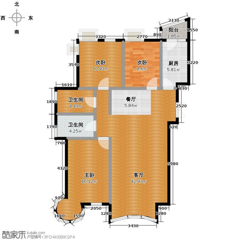 星河御城136.03㎡A-2户型3室2厅2卫