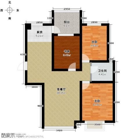 坤泰新界3室1厅1卫0厨115.00㎡户型图