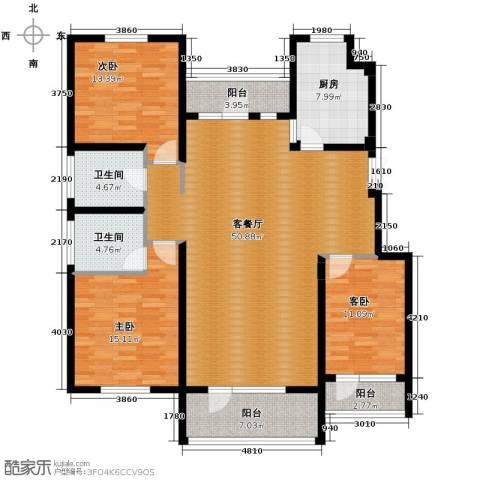 江户雅致3室2厅2卫0厨144.00㎡户型图
