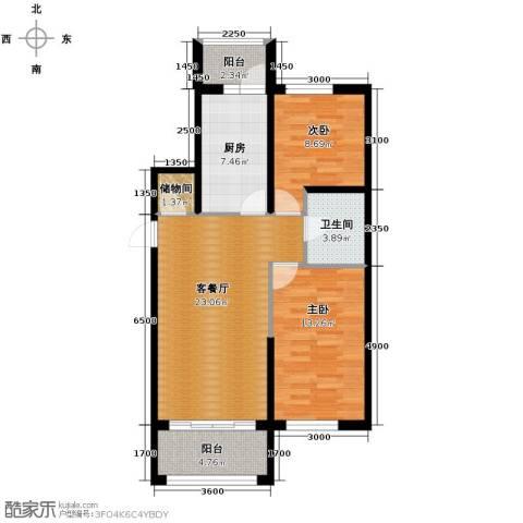 巴黎第五区2室1厅1卫0厨93.00㎡户型图