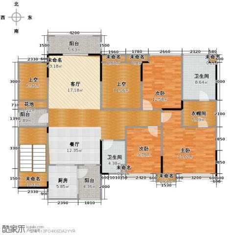 保利拉菲4室2厅2卫0厨151.06㎡户型图