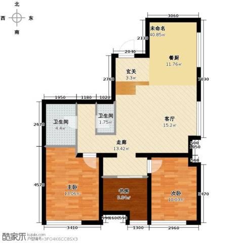 万科春河里3室2厅1卫0厨114.00㎡户型图