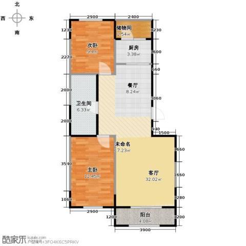 溪湖芳庭2室2厅1卫0厨95.00㎡户型图