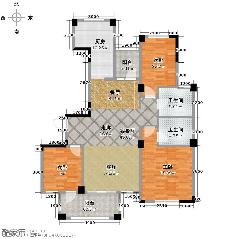 翡翠城111.84㎡户型10室