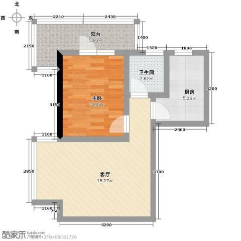 格林常青藤1室1厅1卫0厨55.00㎡户型图