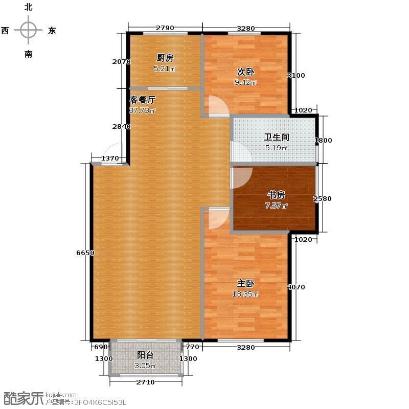 塞纳家园87.31㎡户型3室1厅1卫1厨