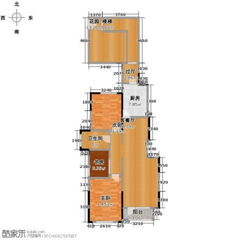 藏珑16203室1厅1卫1厨104.46㎡户型图
