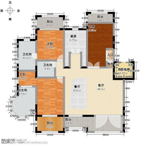 金泰・南燕湾3室2厅3卫0厨165.00㎡户型图