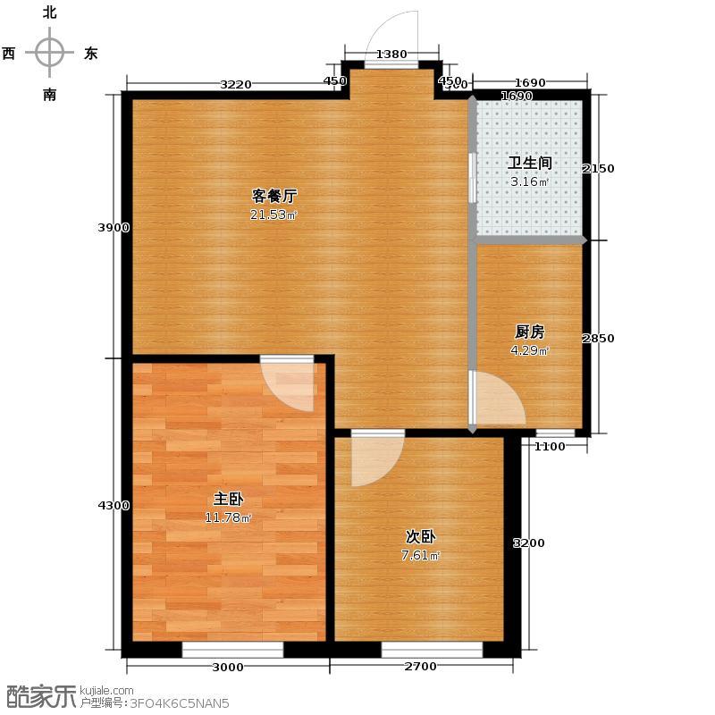 雍华御景67.70㎡户型2室2厅1卫