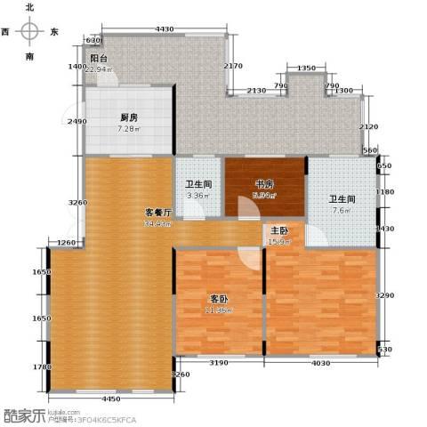 藏珑16203室1厅2卫1厨108.80㎡户型图