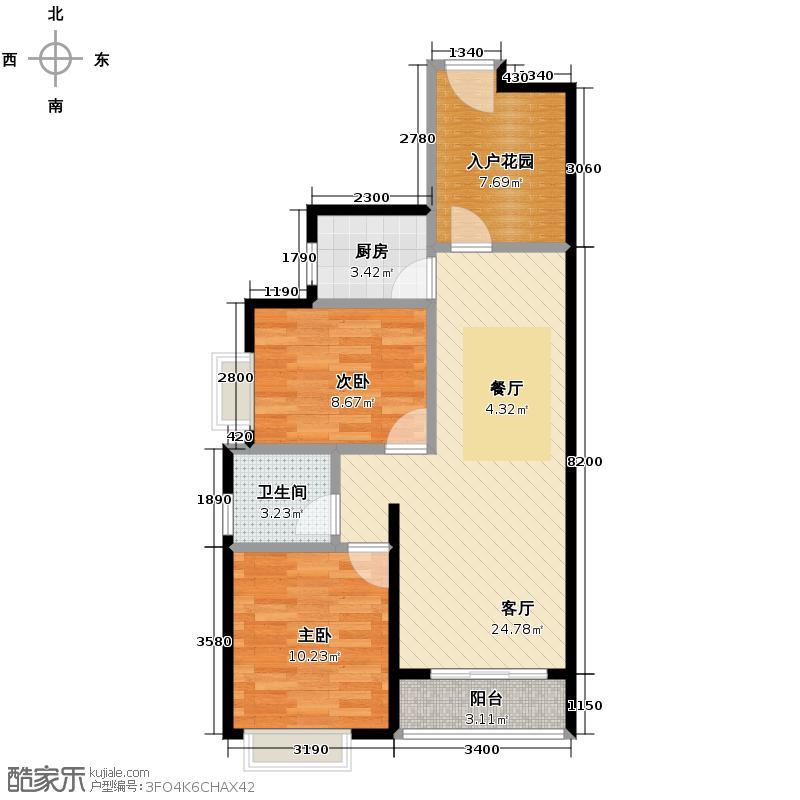 万达西双版纳国际度假区69.06㎡户型10室