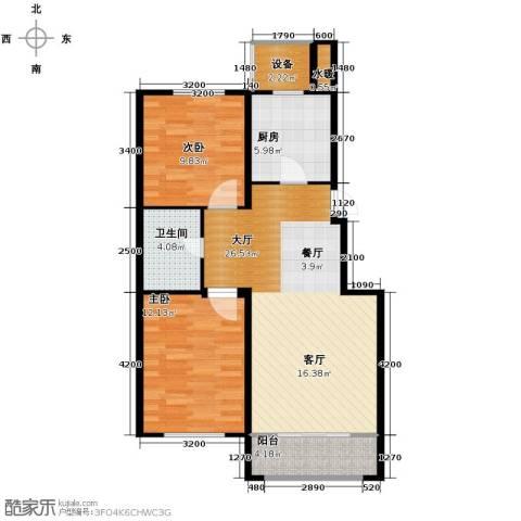 巴黎梦夏2室2厅1卫0厨81.00㎡户型图