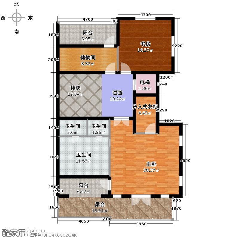 金都夏宫300.00㎡双联平面2-4#房号4-4户型10室