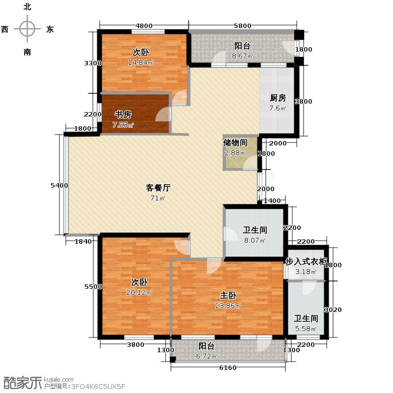 悦山国际145.55㎡户型10室