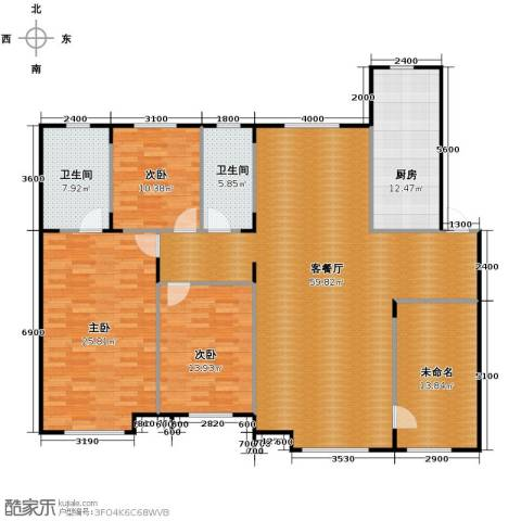 中海寰宇天下3室2厅2卫0厨163.00㎡户型图