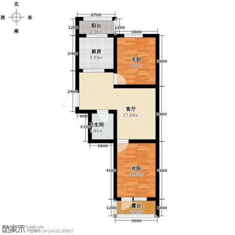 乐城2室2厅1卫0厨68.00㎡户型图