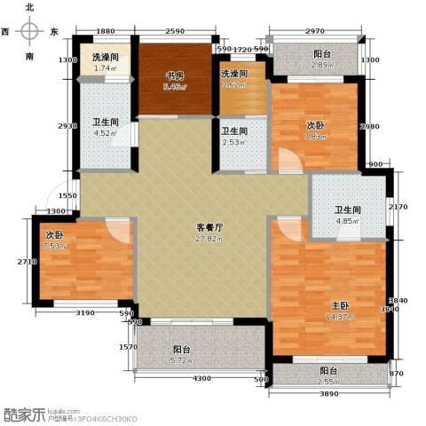 小骆花园4室1厅3卫0厨130.00㎡户型图