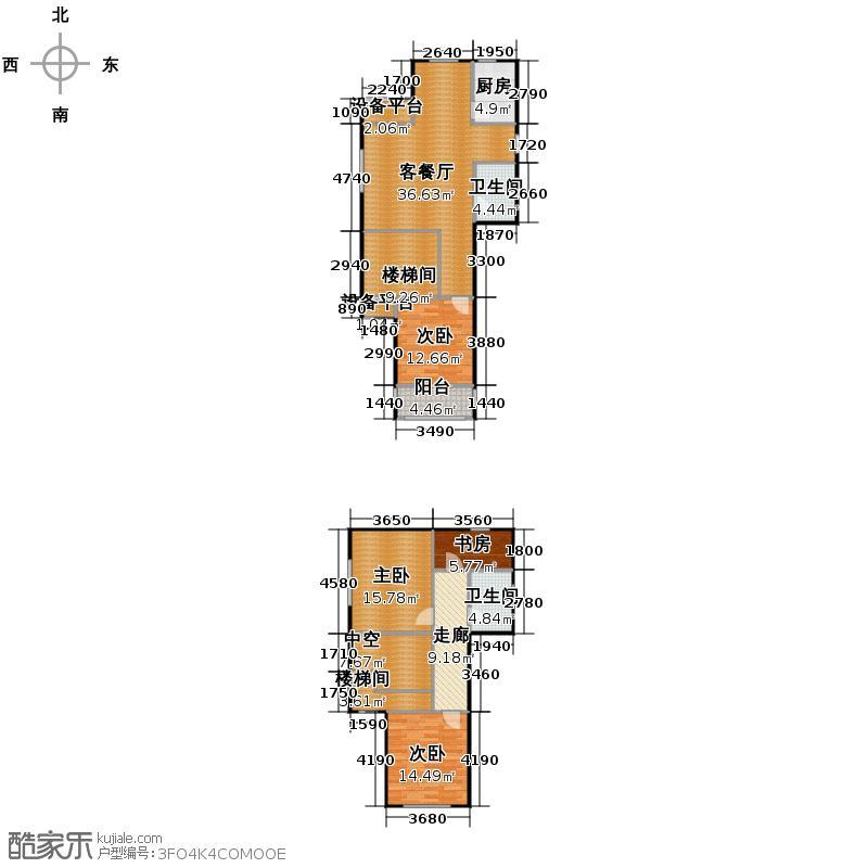 九浪山花园152.00㎡户型4室1厅2卫1厨