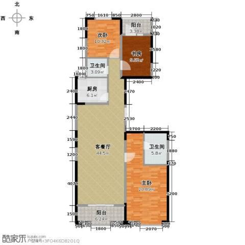 置地广场3室2厅2卫0厨143.00㎡户型图