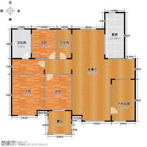中海寰宇天下3室2厅2卫0厨167.00㎡户型图