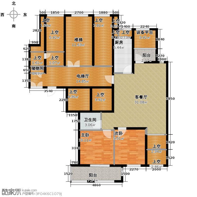 绿城紫桂公寓148.77㎡逸云苑户型10室