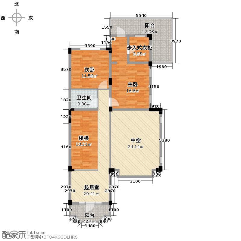 众安理想湾274.00㎡红墅1-4、16-19号楼L-C1东边套二层户型4室2厅3卫