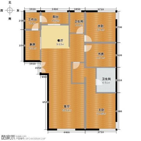 中央悦城3室2厅2卫0厨154.00㎡户型图