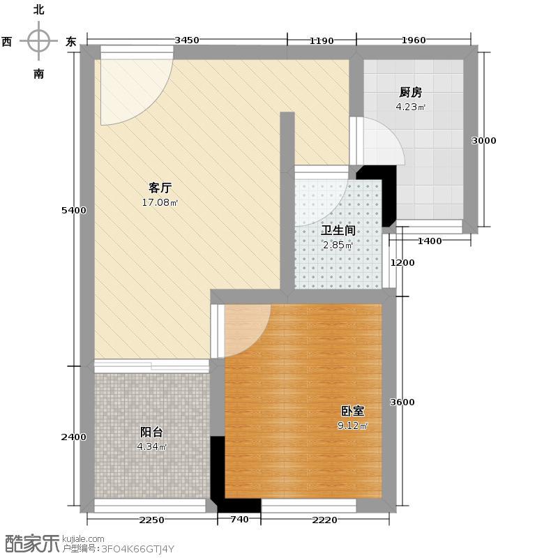 天玺苑44.78㎡户型10室