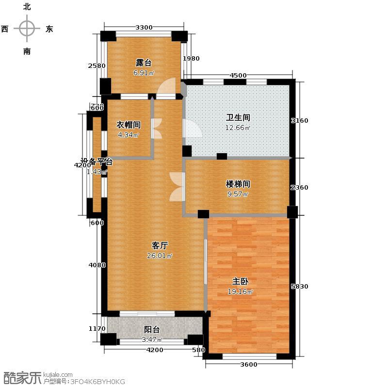 百家乐西园95.17㎡D五层户型10室