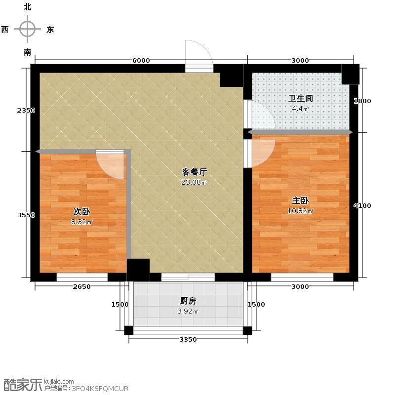 春城家园68.71㎡C户型2室1厅1卫