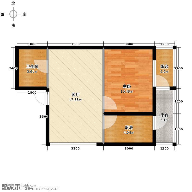 广厦摩卡公馆47.02㎡户型10室