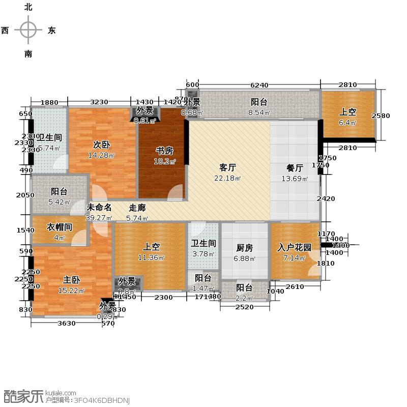 佳兆业可园140.00㎡7座【臻境】L户型3室2厅2卫