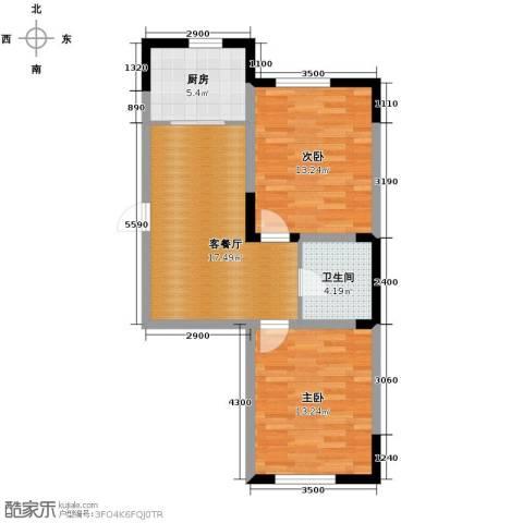 台北雅苑2室2厅1卫0厨61.12㎡户型图