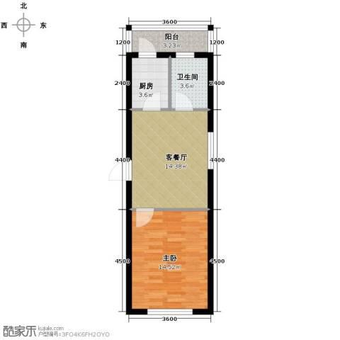 阳光御景1室2厅1卫0厨45.00㎡户型图