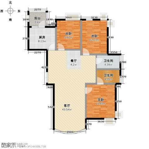 星河御城3室2厅2卫0厨137.00㎡户型图