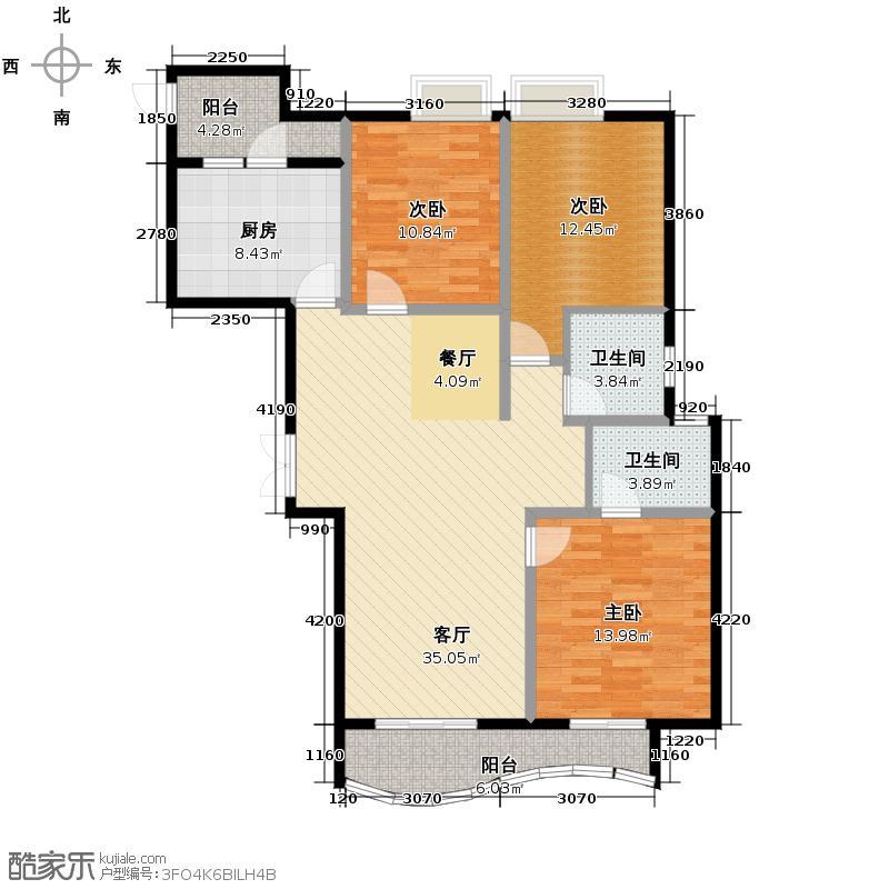 星河御城138.58㎡D1户型3室2厅2卫