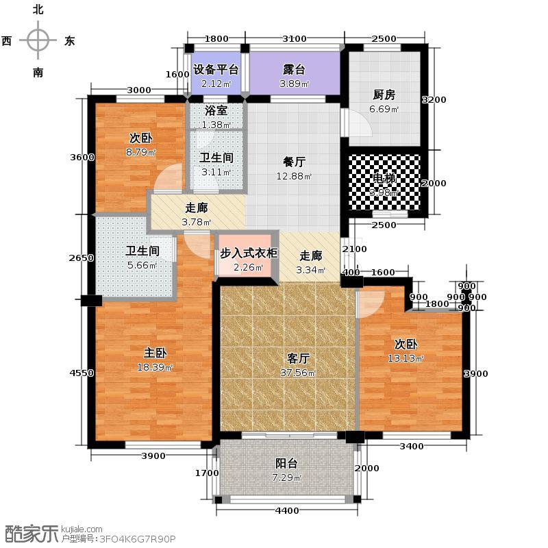曙光之城139.00㎡新古典D户型3室2厅2卫