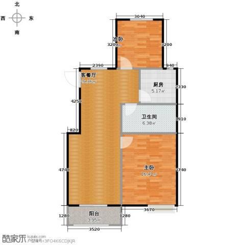 富城铭邸2室2厅1卫0厨87.00㎡户型图