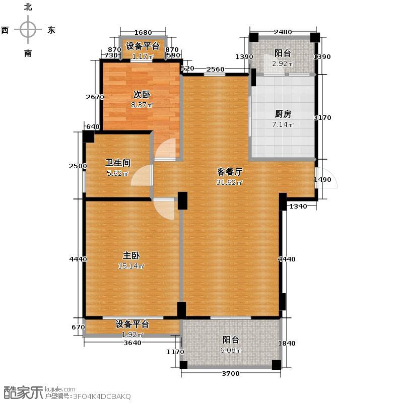 星洲竹影翠庭86.95㎡G奇数层户型2室1厅1卫1厨