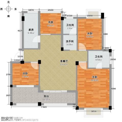 小骆花园4室1厅2卫1厨132.00㎡户型图