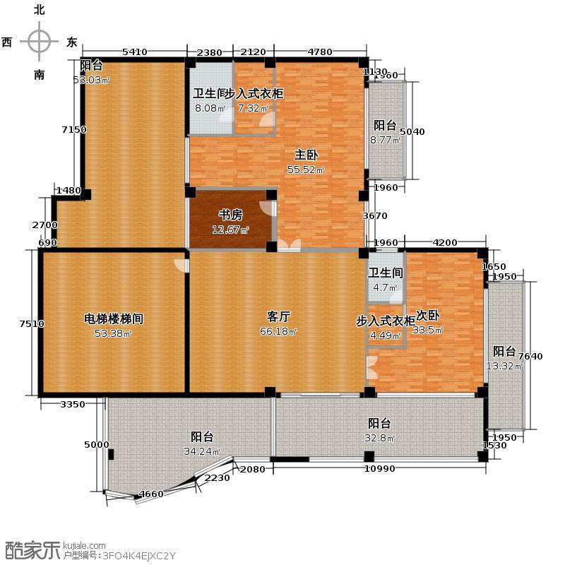 汇锦华庭415.99㎡户型3室1厅2卫