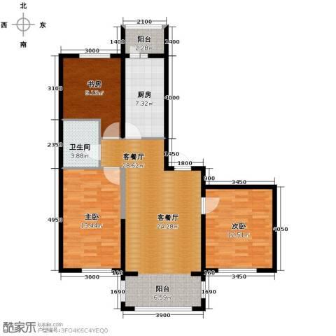 巴黎第五区3室1厅1卫0厨108.00㎡户型图