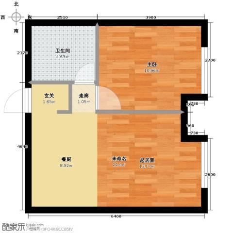万科春河里1室2厅1卫0厨55.00㎡户型图