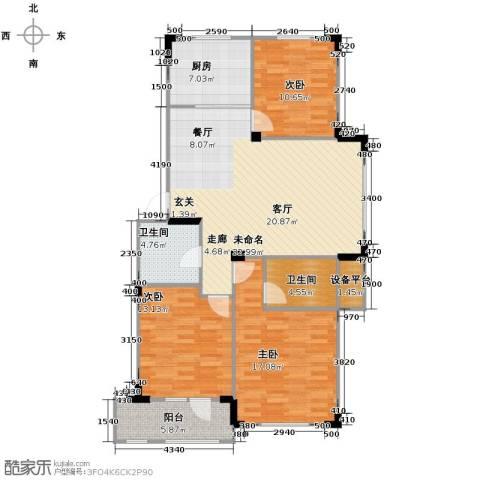 澳海西湖印象3室0厅2卫1厨105.00㎡户型图