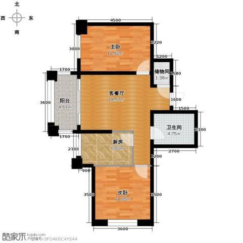 巴黎第五区2室1厅1卫0厨84.00㎡户型图