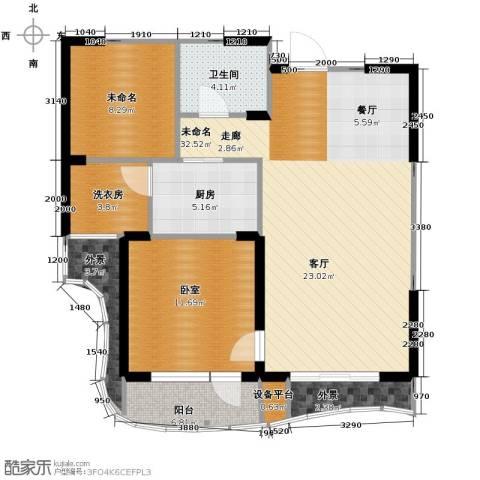 名流公馆2室2厅1卫0厨80.00㎡户型图