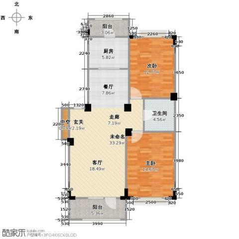 澳海西湖印象2室0厅1卫1厨88.00㎡户型图